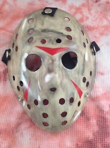 Jason Voorhees Mask Friday The 13th Custom Hand Painted Prop Mask