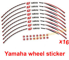 Yamaha Wheel Sticker Red Reflective Motorcycle Rim Moto Decal Tape Stripe x16