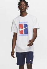 Nike Tennis Court Heritage Graphic Men's Sz Large T-shirt White