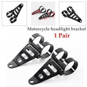 2X Motorcycle Front Fork Headlamp Part Headlight Bracket Holder Mount Clamp Kit