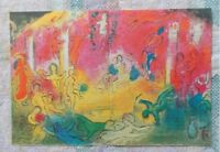 Chagall Daphnis and Chloe Temple and History of Bacchus Large Offset Litho 1977