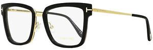 Tom Ford Square Eyeglasses TF5507 001 Black/Gold 53mm FT5507