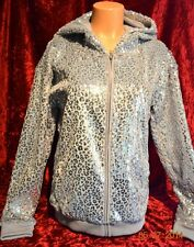 Victorias Secret FUR Bling Fashion Show Graphic LOVE PINK Hoodie NWT S