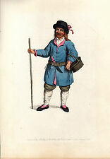 TRADITIONAL RUSSIAN COSTUMES - KAND  -  HAND-COLOURED COPPERPLATE (1803)