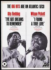 1968 Otis Redding photo Wilson Pickett Atco Records Atlantic trade print ad