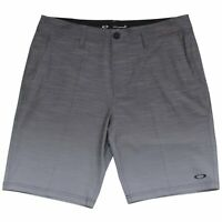 Oakley Leo Shorts Mens Size 38 Black Grey Gradient Casual Boardies Boardshorts