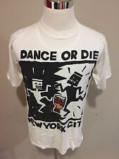 True Vintage 1990's KEITH HARING Dance or Die NYC New York City Shirt Sz. L USA