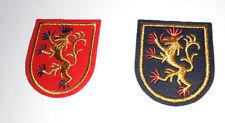 2 Flicken Applikationen Aufnäher  zum bügeln oder nähen Wappen   in rot und blau