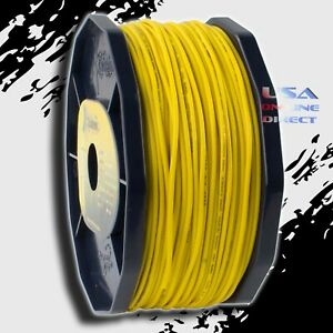 Yellow 16 Gauge AWG 100% OFC Copper 400ft. Stranded Primary Remote Wire Cable US