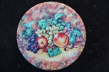 Vintage Tin container, fruit motif, display