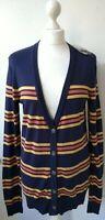 BDG Urban Outfitters Cardigan L UK12/14 EU40/42 blue striped long sleeve BNWT