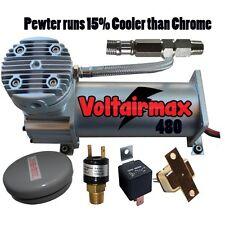 VoltAirMaxxx 480C Pewter 200psi Air Compressor Air Bag Suspension Horn System