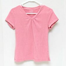 Sonoma Knit Top Shirt Womens Size Small Petite Pink Short Sleeve V Neck