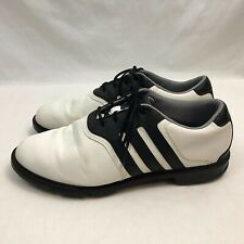 32a8d719425 Adidas Traxion Lite Mens Golf Shoes US 12 White Black Leather Soft Spikes  Euc