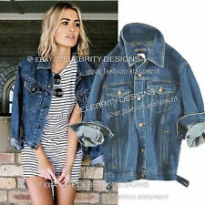Denim Regular Hand-wash Only Solid Coats & Jackets for Women