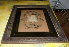 Cadre bois sous verre avec dessins et textes en Allemand
