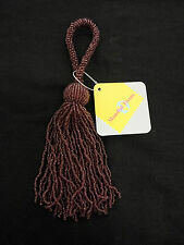 Plum Beaded  Key Tassels Sewing/Crafts/Costumes 19.5cm long