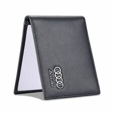new Audi Black Driver License Holder Genuine Leather with a Front Card Slot Case