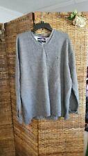 Tommy Hilfiger Gray V-Neck Sweater XXL 100% Cotton