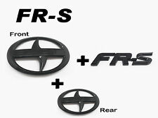 Front + Rear + FRS Trunk Badge Emblem Logo glossy Black For Scion FRS FR-S ZN6