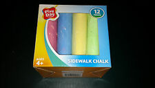 Sidewalk Chalk 12 pieces Large Sticks 6 Colors Play Day BRAND NEW SEALED NIB NIP