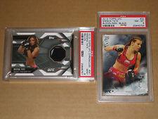 2014 UFC BLOODLINES MMA MIESHA TATE BLACK /25 CHRONICLES PSA 9 RELIC 2 CARD LOT