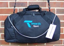 TOUCH SPORT HOLDALL  SPORTS BAGS. TRAVEL BAG BLACK WITH WHITE TRIM JH17