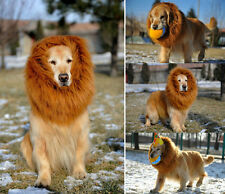 Pet Costume Lion Mane Wig with Ears for Dog Cat Clothes Fancy Dress for Xmas