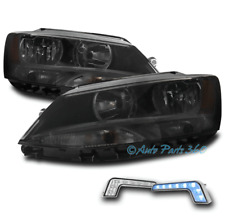 FOR 11-18 VW JETTA SEDAN SMOKE REPLACEMENT HEADLIGHT LAMP W/BUMPER BLUE LED DRL