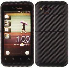 Skinomi Carbon Fiber Black Phone Skin+Screen Protector Cover Film for HTC Rhyme