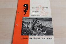 144645) Rabewerk Dreipunkt Anbau-Beetpflüge Prospekt 08/1952