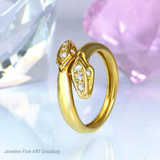 Ring 750/- Gelbgold mit 9 Diamanten ca 0,09 ct Wesselton/SI