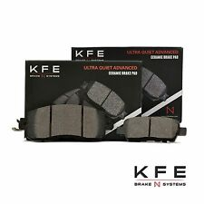 FRONT + REAR New Premium Ceramic Disc Brake Pad Set With Shims KFE1650 KFE905