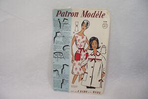 Ancien PATRON Modèle 1960 TABLIERS n°73141 Taille 38-40-42 L'ECHO de la MODE