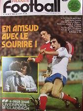 ▬► France Football 1620 (04/77) En AMSUD _Didier Six_Top à Bracci_Johan Cruyff