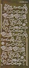 Zier-Sticker-Bogen-Spiegelfolie-Zur Taufe-gold-3366spfg