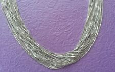 """Beautiful 20"""" Real Sterling Silver 925 Box Chain Necklace 1mm Quality Lot H3"""