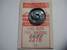 "WALTHAM  MAIN SPRING #2230 / 2278  ( 3/0s )  "" PERMALLOY "" MODEL  1907"
