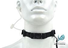 Z Tactical Tactical Throat Mic Microphone Headset w/ Tube Earphone (Z033 BK)