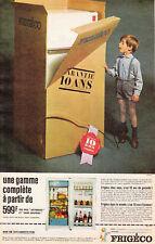 """Publicité Ancienne """" Réfrigérateur  Frigéco"""" 1963 """""""