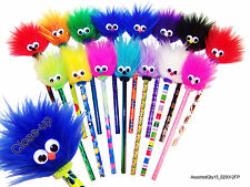 "15 Fuzzy Pencils #2 ""A Smile with a TWIST"" ASSORTED!"
