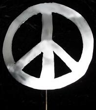 PEACE Sign Symbol Metal Garden Yard Lawn Art Stake