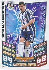 N°319 GRAHAM DORRANS # SCOTLAND WEST ALBION TRADING CARD MATCH ATTAX TOPPS 2013