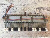 Hammond Organ M3 & Many More Drawbar Assembly! Smooth Drawbars MAKE OFFER!