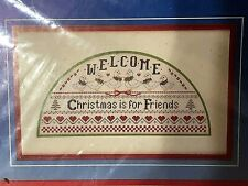 New Retired Dimensions Christmas Is for Friends Welcome Counted Cross Stitch Kit