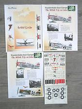 "P-47D THUNDERBOLT ""4 USAAF/NUT CRACKER//EL TEXANO/PEG O"" AEROMASTER DECALS 1/48"