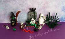Monster Series Lego Glow in Dark Mummy Ghost Witch Zombie 1 Graveyard Costume
