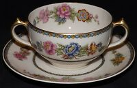 Charles Field Haviland Finest French Ivory Bouillon Cup & Saucer