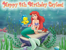 ARIEL Edible CAKE Topper Personalized ICING Image Decoration Little Marmaid