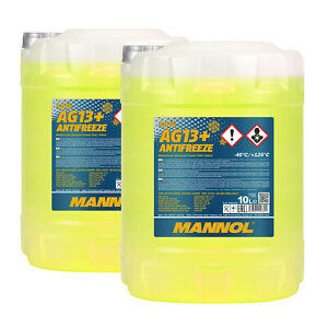 20 (2x10) Litre Mannol Antigel AG13 + Advanced Antigel Fertiggemisch 40°